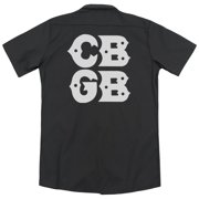 CBGB Stacked Logo (Back Print) Mens Work Shirt