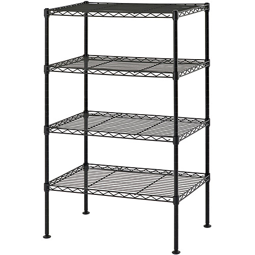 "Muscle Rack 20""W x 12""D x 32""H Four-Level Wire Shelving, Black"