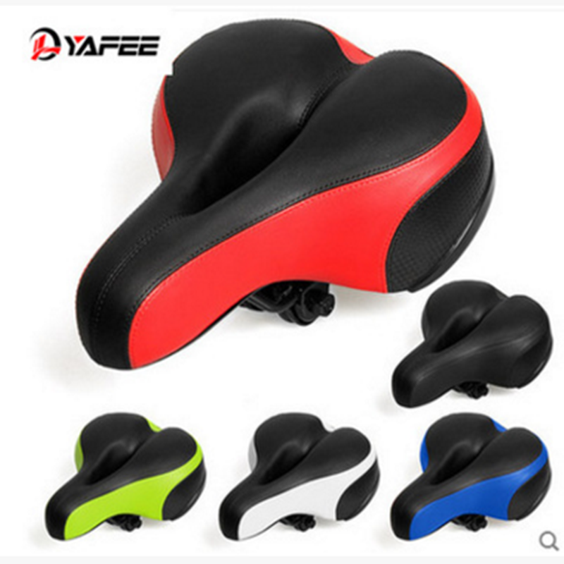 Bike Saddle Seat,OUTERDO Dual Spring Bicycle Wide Big Bum Sporting Goods Soft Pad for Road Bike and Mountain Bike