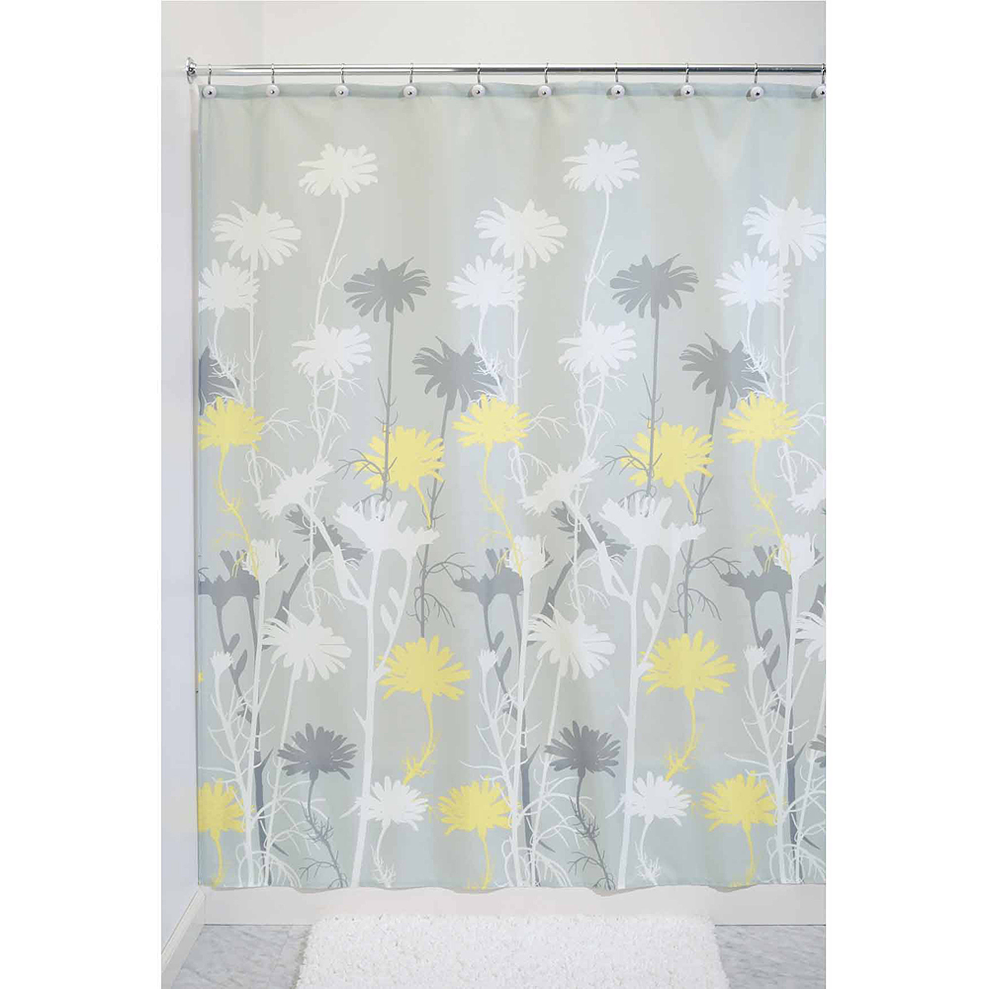 InterDesign Daizy Fabric Shower Curtain, Various Sizes & Colors