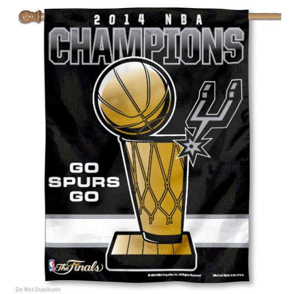Spurs 2014 NBA Champions House Flag
