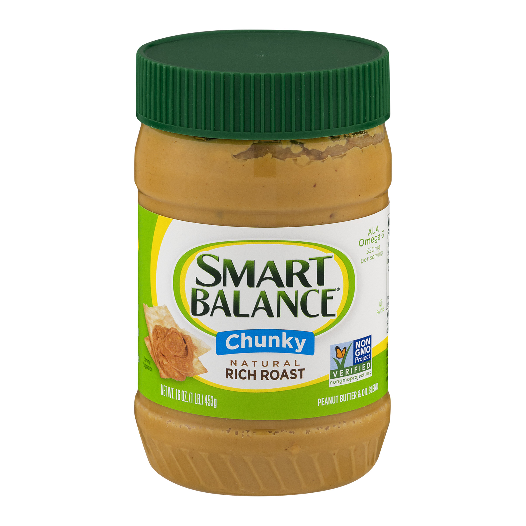 Smart Balance Natural Rich Roast Chunky Peanut Butter, 16.0 OZ