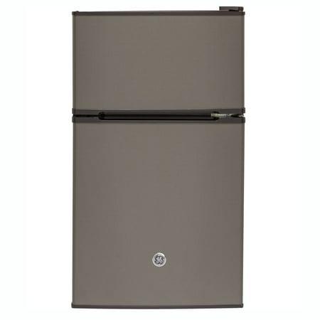 GE Appliances 3.1 Double-Door Compact Refrigerator, Slate