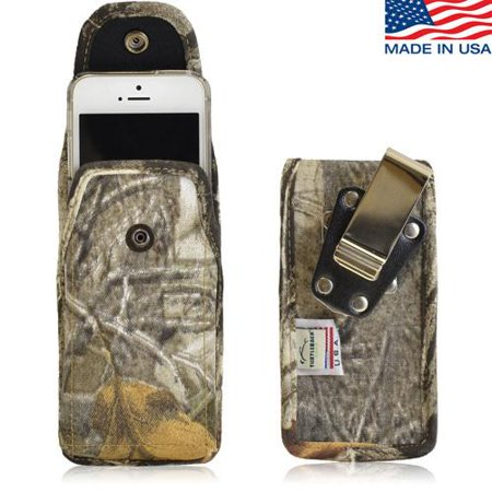 premium selection a3f2a 4675f Rugged Vertical Camouflage Nylon Heavy Duty Case with Metal Clips for  Samsung Galaxy S9 PLUS with a Otterbox Defender Case on it.