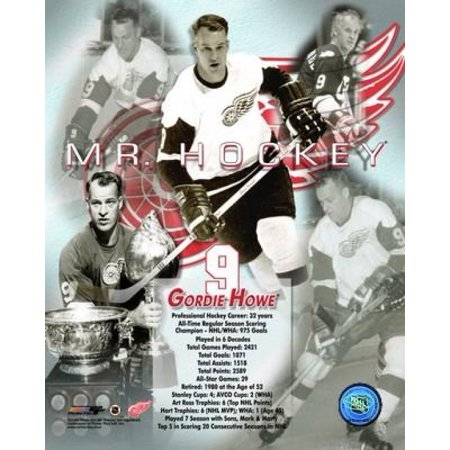 - Gordie Howe - Legends of the Game Composite Photo Print