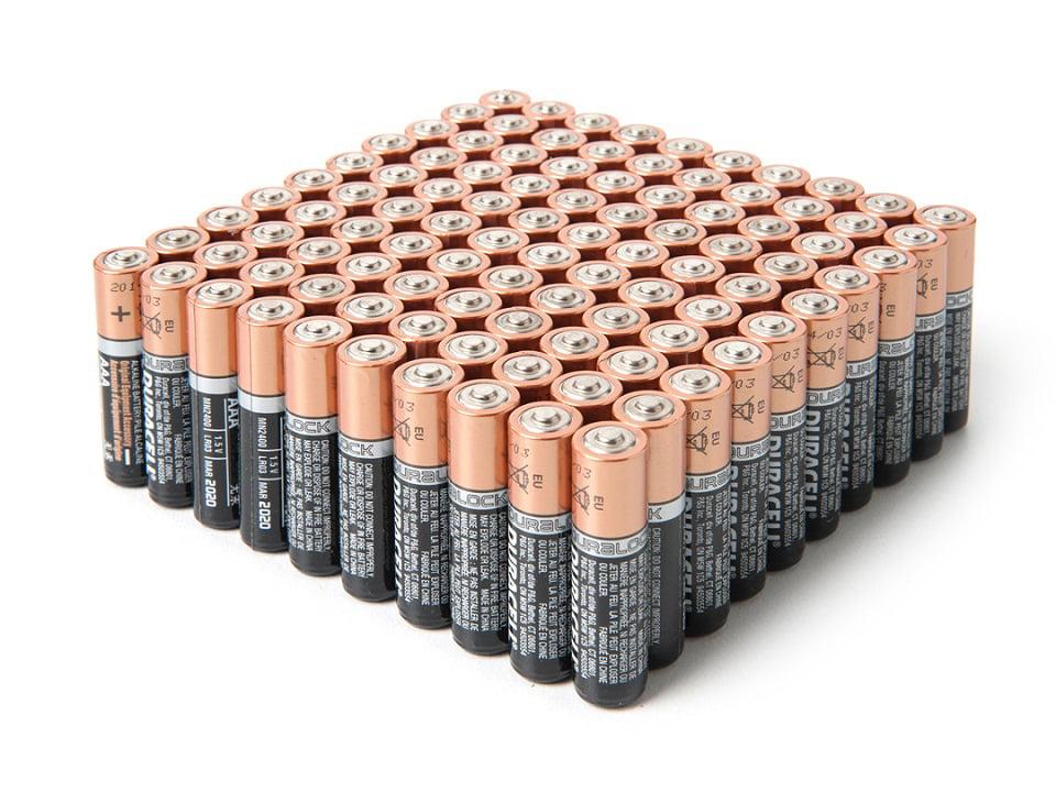 Duracell Coppertop Duralock AA Batteries - 100 Pack