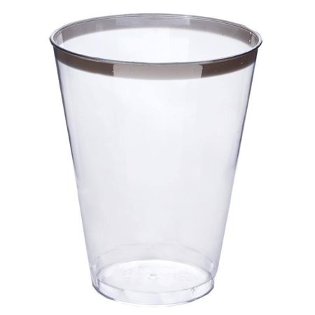 BalsaCircle 12 pcs 7 oz. Clear Disposable Plastic Cups for Wedding Reception Party Buffet Catering Tableware Creative Food Display