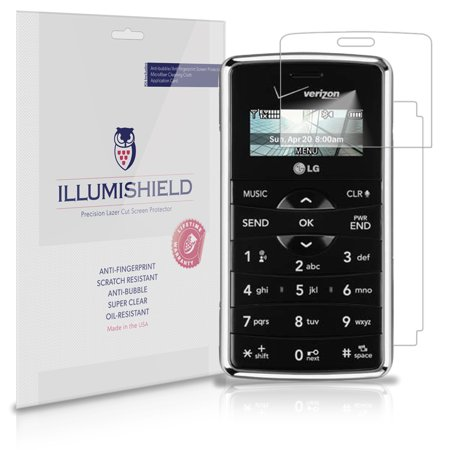 iLLumiShield Phone Screen Protector w Anti-Bubble/Print 3x for LG EnV2 VX9100