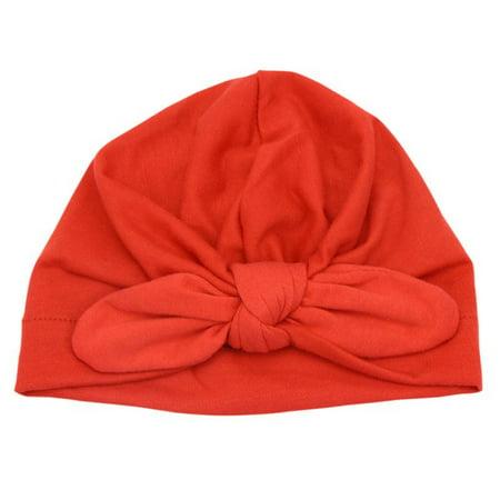 Baby Cotton Turban Knot Soft Bunny Ear Hat Head Wrap Knot Headband Newborn - Louise Bunny Hat
