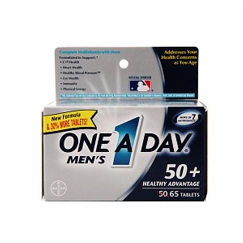 One-A-Day Men's Advantage 50+ Multivitamin 65 ea (Pack of 3)