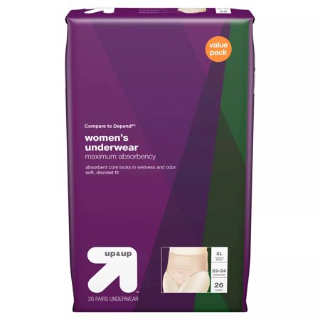 Incontinence Underwear for Women - Extra Large - 26ct - Up&Up™