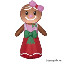 Holiday Time Yard Inflatables Gingerbread Woman, 4 ft