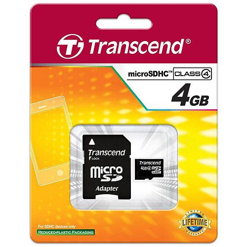 Transcend 4GB Class 4 microSDHC Card