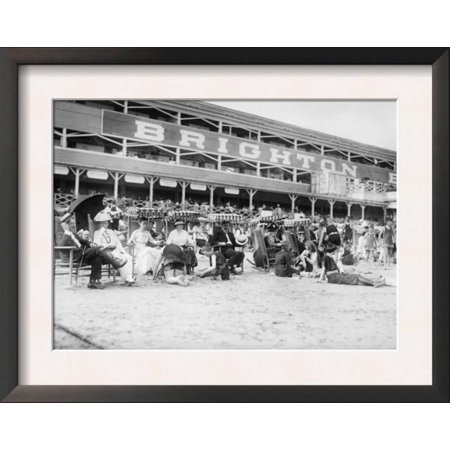 Brighton Party City (People at Brighton Beach New York City, NY Photo - New York, NY Framed Art)