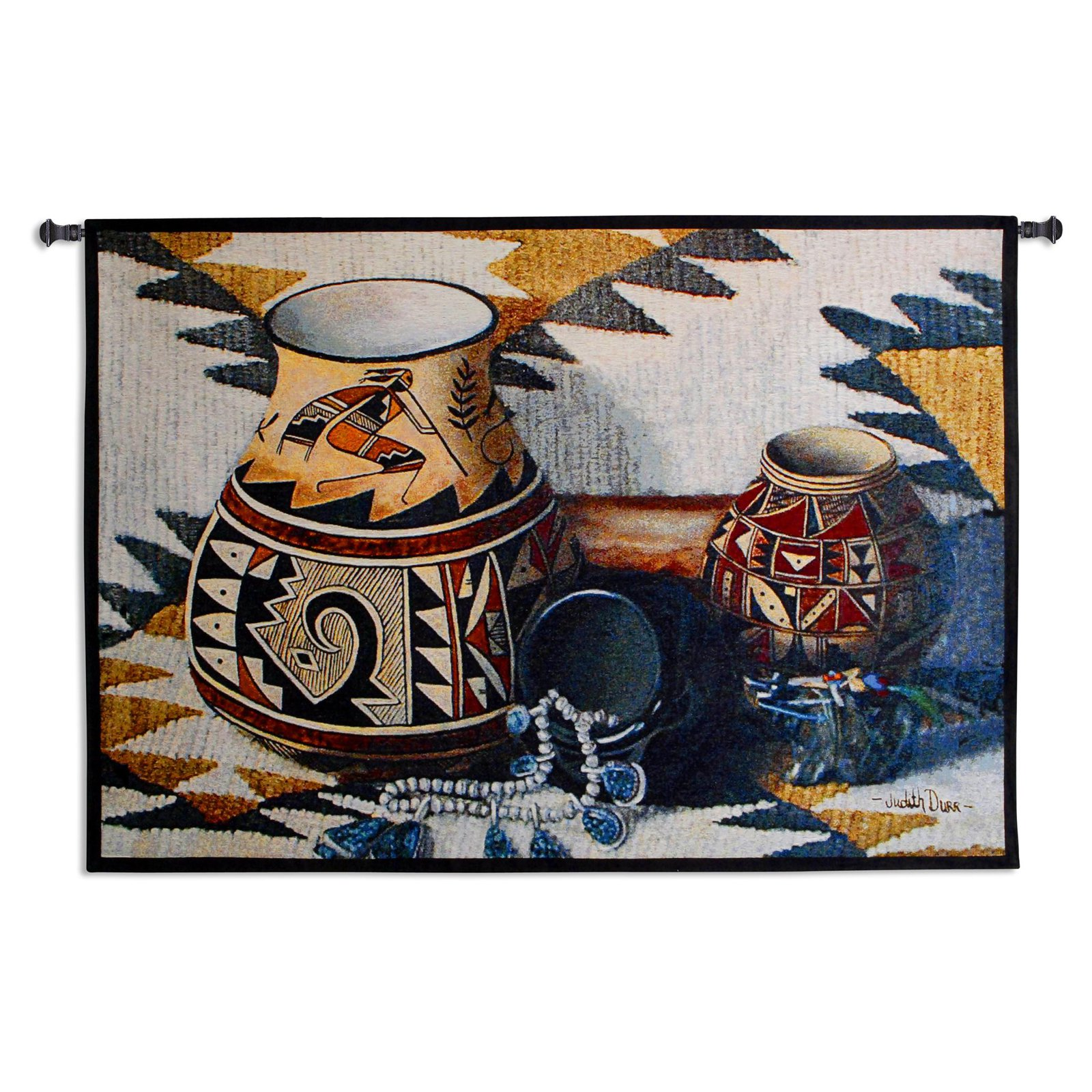 Click here to buy Fine Art Tapestries Kokopelli Pot Wall Tapestry by Supplier Generic.