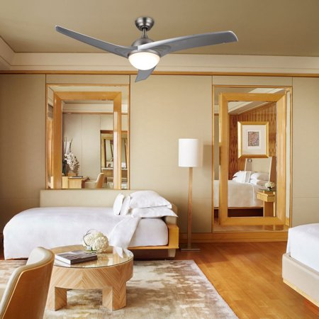 Indoor Transfer Panel - Modern Ceiling Fan w/ LED Panel Light & Remote Control for Indoor Use