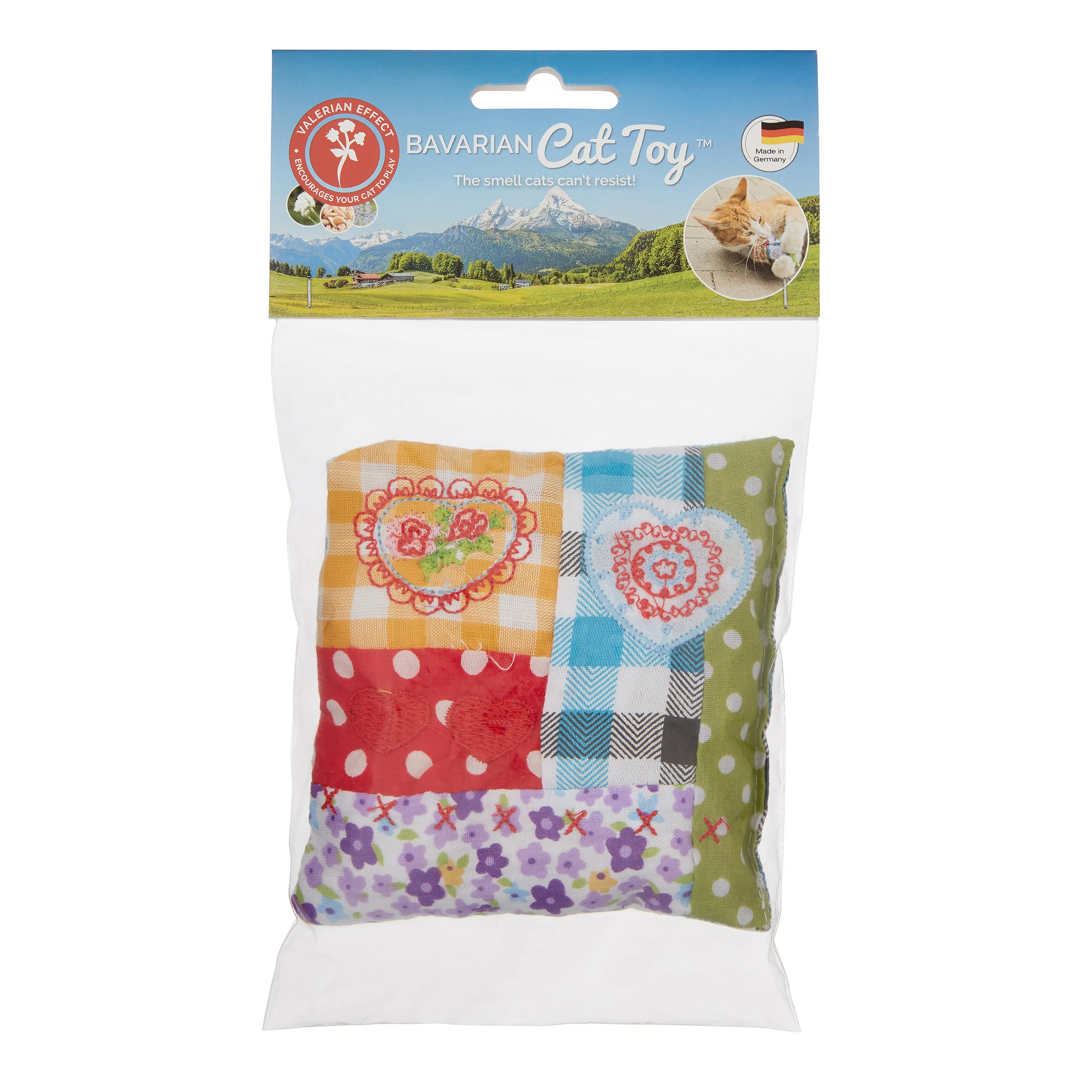 Bavarian Cat Toys Patchwork Pillow Catnip Cat Toy, Small by Bavarian Cat Toys