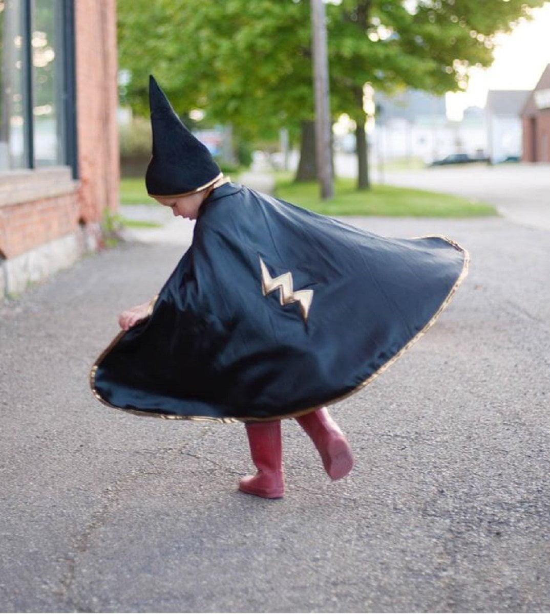 Great Pretenders Reversible Wizard Cape & Hat (Size 4-6) - image 1 de 2