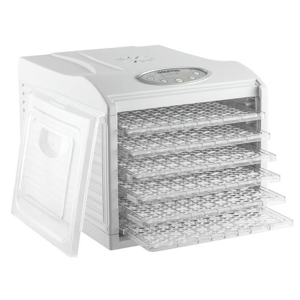 Gourmia Gfd1650 Premium Countertop Food Dehydrator With 6 Drying