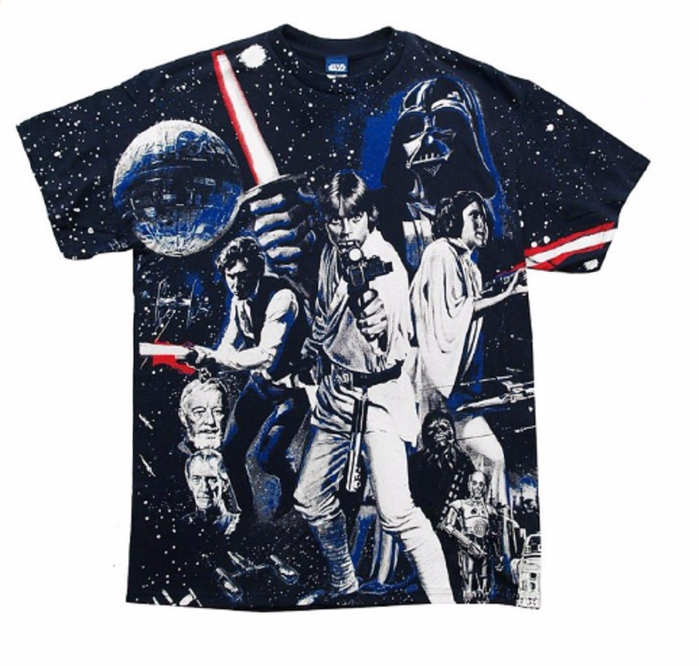 Star Wars War Of Wars Vintage Poster Allover Print Adult T-Shirt