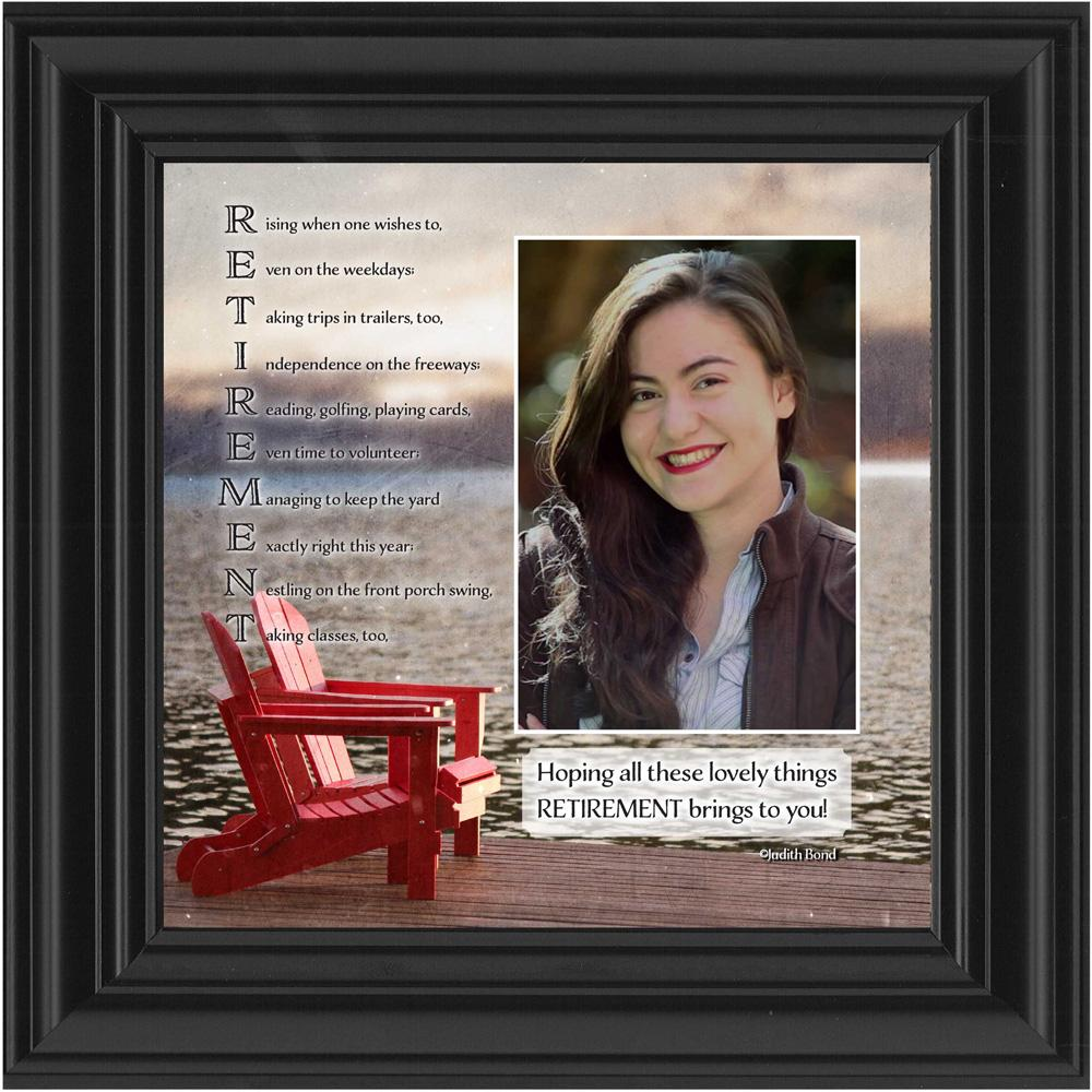 Retirement, Personalized Gifts for Men and Women Picture Frame, Retirement Gift Ideas, 10X10 6306