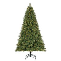 product image home heritage 9 artificial cascade pine christmas tree w color changing lights - Small Artificial Christmas Tree