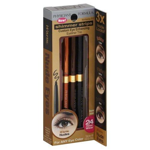 Physicians Formula Shimmer Strips Custom Eye Enhancing Eyeliner Trio Nude Collection, Warm Nude Eyes, 0.03 Ounce