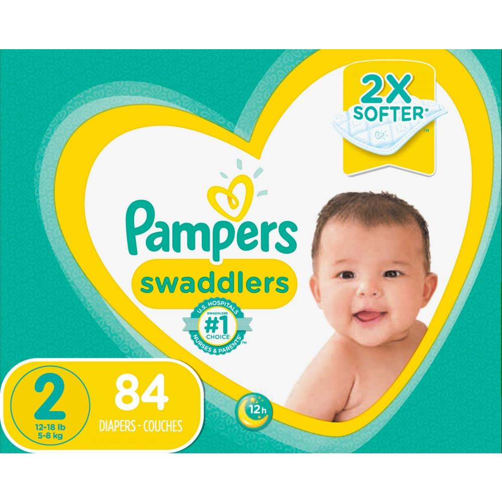 28ac5ab123b2 Pampers Swaddlers Diapers Size 2 84 Count – Walmart Inventory ...