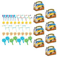BirthdayExpress 269286 Construction Party Filled Favor Boxes - 8 Guests