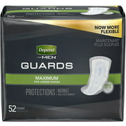 4 Pack - Depend For Men Incontinence Guards, Maximum Absorbency 52 ea