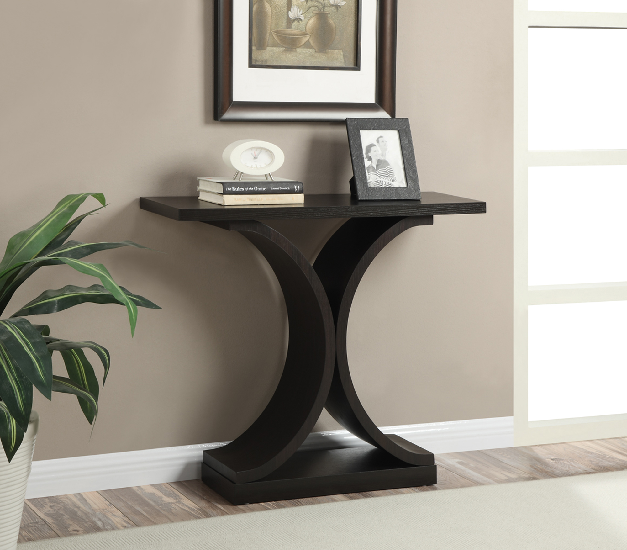 Convenience Concepts Newport Infinity Console Table, Espresso by Convenience Concepts