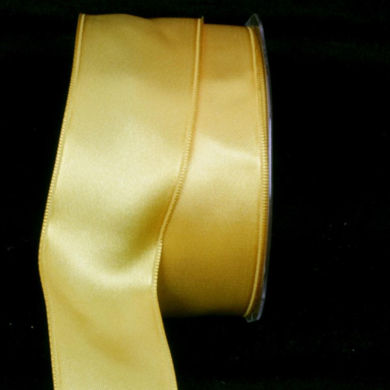"Yellow Satin Wired Craft Ribbon 1.625"" x 44 Yards"