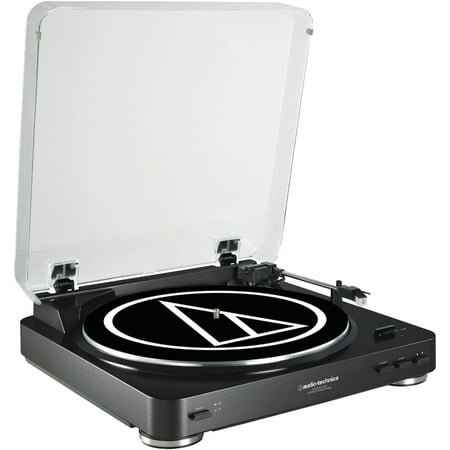 Audio-Technica AT-LP60BK-USB Fully Automatic Belt-Drive USB & Analog Stereo Turntable (Black) ()