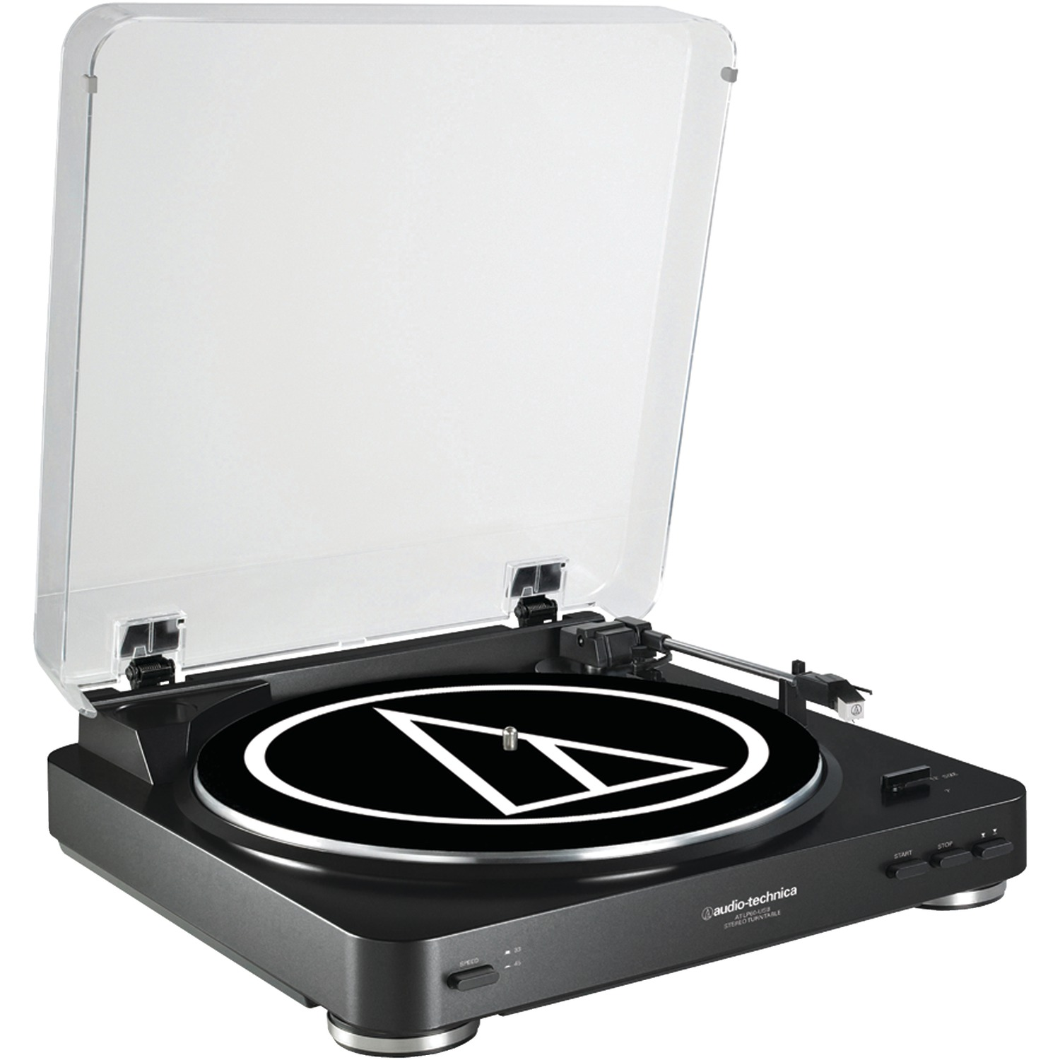 Audio-Technica AT-LP60BK-USB Fully Automatic Belt-Drive USB & Analog Stereo Turntable (Black)