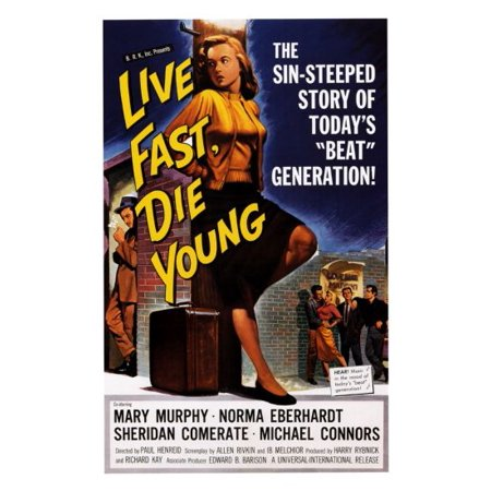 Live Fast Die Young Movie Mini Poster 11inx17in (28cm x43cm) ()