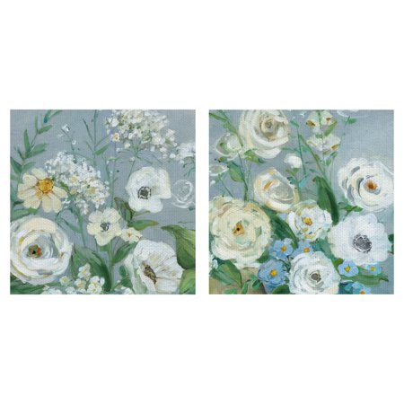 Masterpiece Art Gallery Painterly Garden Flowers I & II by Sally Swatland Canvas Art Print Set of 2 (16