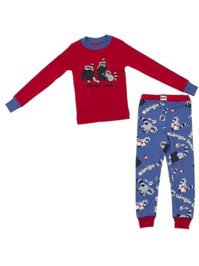 Lazy One Midnight Snack Cotton Pajamas for Toddlers and Boys