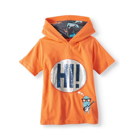 365 Kids from Garanimals Short Sleeve Hi/Bye Interactive Hoodie (Little Boys & Big Boys)