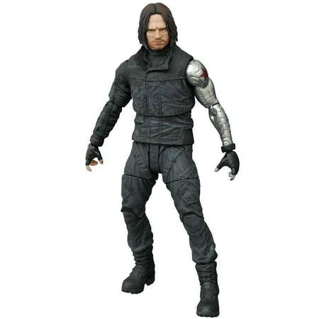 Marvel Select Winter Soldier Action Figure [Civil (Collectible Miniature Civil War Cannon)