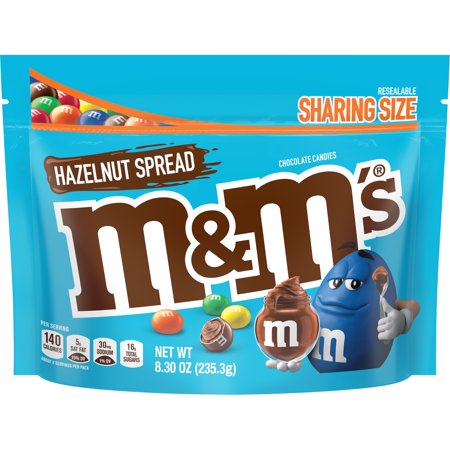 M&M'S Hazelnut Spread Chocolate Candy, 8.3-Ounce Bag White Chocolate Spread