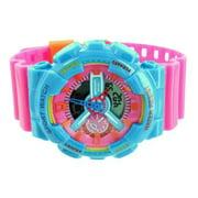 Pink Baby Blue Sports Watch Shock Resistant Funky Digital Analog Mens Womens