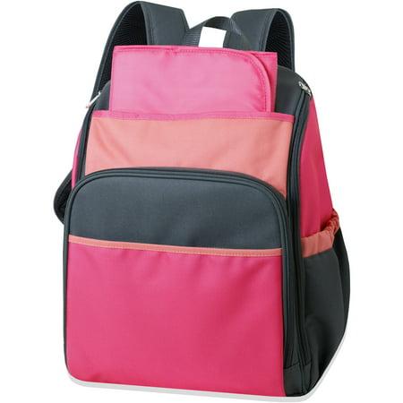 tender kisses colorblock backpack diaper bag coral. Black Bedroom Furniture Sets. Home Design Ideas