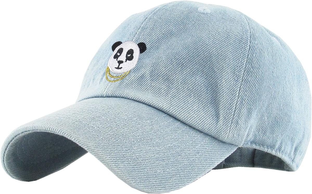 64c2aa4b1 Panda White Dad Hat Baseball Cap Polo Style Adjustable Hip Hop Animal SWAG Polar  Bear Bamboo Giraffe Tiger - Walmart.com