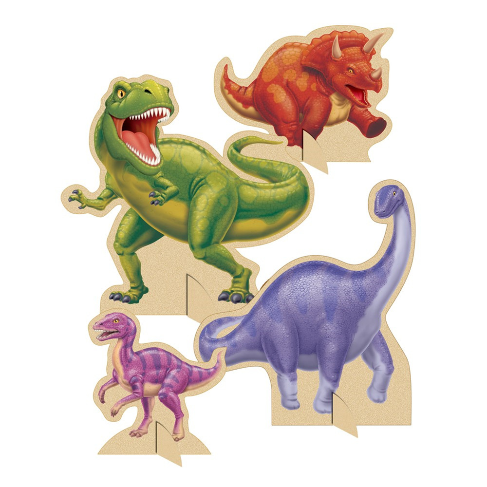Dino Blast Standup Centerpiece with cutouts/Case of 6
