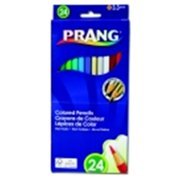 Prang 7 in. Non-Toxic Pre-Sharpened Colored Pencil Set, 3.3 mm. Smooth Tip, Set - 24