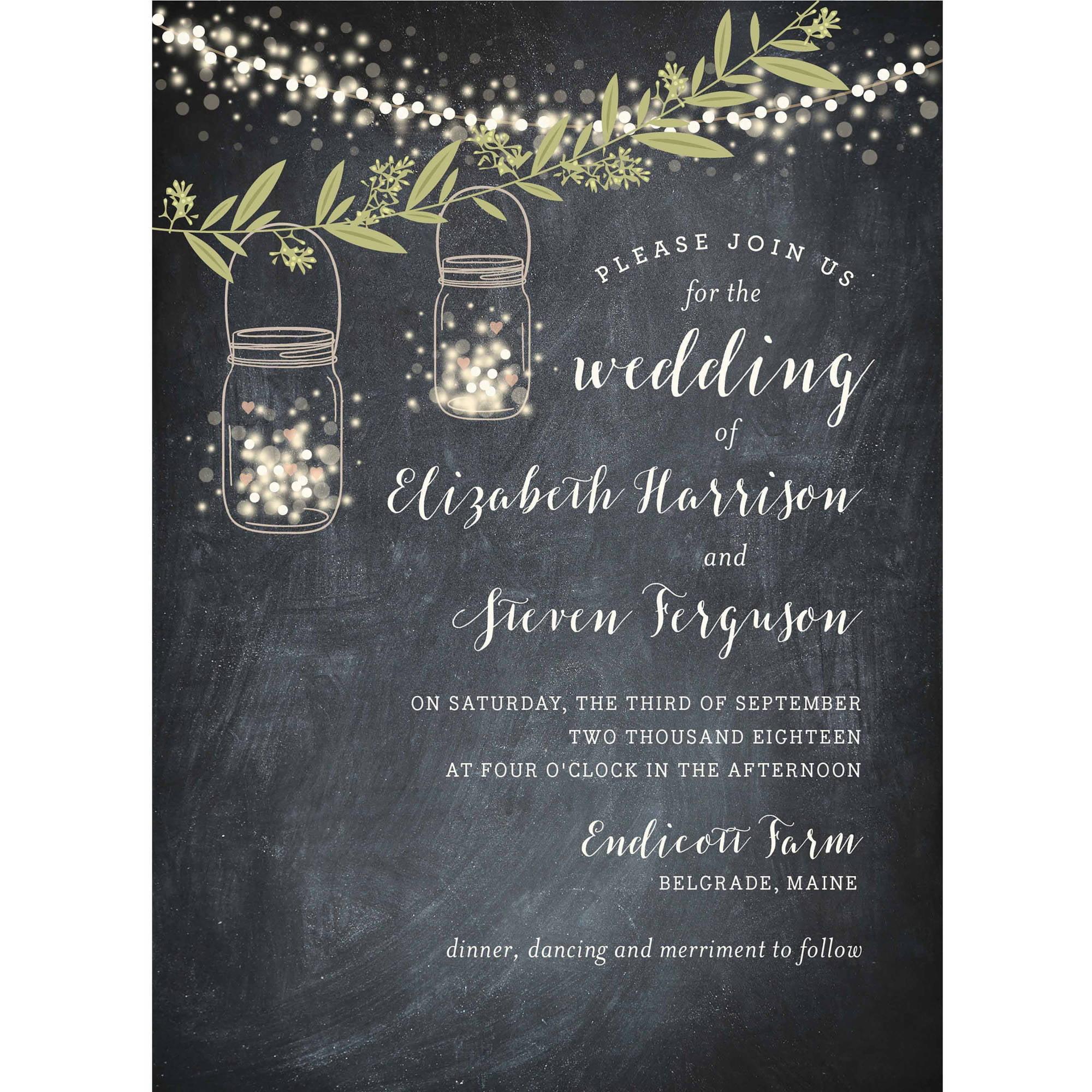 Twinkling Jars Standard Wedding Invitation Walmart Com