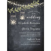 twinkling jars standard wedding invitation - Wedding Invitations Walmart