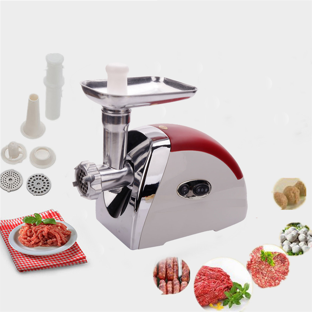 Zimtown Small Multifunctional Electric Maker Meat Grinder Red Household Appliances 2000W