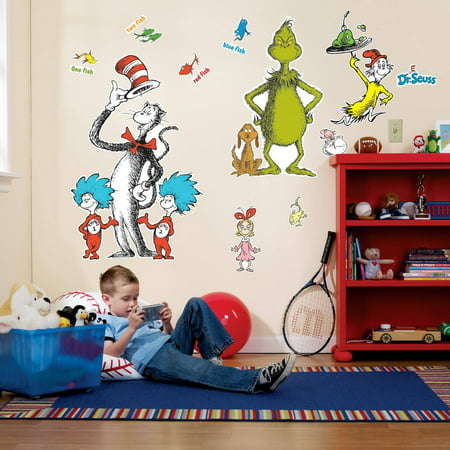Dr. Seuss Giant Wall Decals - Dr Seuess