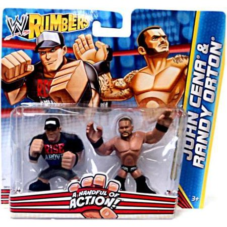 WWE Wrestling Rumblers Series 2 John Cena & Randy Orton Mini Figure 2-Pack](John Cena Muscle)